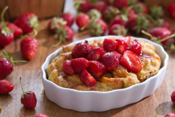 bread pudding berbahan buah
